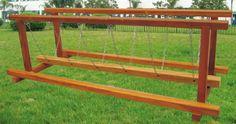kids wooden swing bridge children