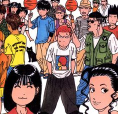 Various anime, manga, and video game fashion! Slam Dunk Manga, Akiba Kei, Manga Art, Manga Anime, Inoue Takehiko, Manga Illustration, Japanese Illustration, Anime Artwork, Slammed