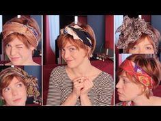 Voici 11 idées (déclinables en bien plus !) pour vous coiffer en nouant un foulard dans vos cheveux. Ça marche pour les cheveux courts et pour les cheveux lo...
