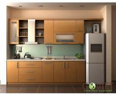Tủ bếp gỗ chữ I GVI8