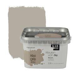 KARWEI Kleuren van Nu muurverf mat kleigrijs 2,5 l
