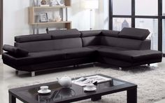 Albert Modern 2PC Bonded Leather Sectional