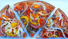 Gourmet Girl Cooks: Low Carb Herbed Crust Pizza - Grain & Gluten Free