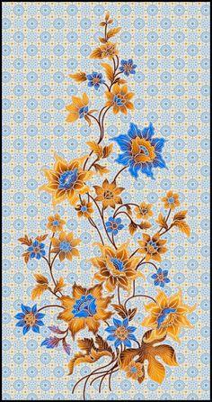Boutique Batiks: June 2009 Flora Flowers, Botanical Flowers, Art Deco Pattern, Stencil Patterns, Flower Wallpaper, Pattern Wallpaper, Zentangle, Pencil Drawings Of Flowers, Batik Art