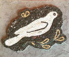 Wall art decor Mosaic birds