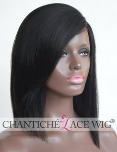 Chantiche Best Light Yaki Short Bob Cut Silk Top Lace Front Wigs Human Hair 3 Invisible Left Deep Parting Glueless Brazilian Remy Hair Women Wig for African Americans 12 Inch Natural Black 1B ** This is an Amazon Affiliate link. Details can be found by clicking on the image.