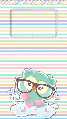 The iridescent prism of my iDevice. Owl Wallpaper Iphone, Cute Owls Wallpaper, Bow Wallpaper, Cute Wallpaper Backgrounds, Pretty Wallpapers, Cellphone Wallpaper, Paper Owls, Owl Cartoon, Cute Clipart