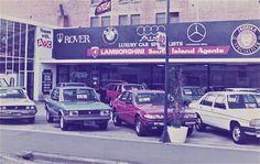 1983 Car Dealer, Christchurch | Manchester Street, Christchurch, New Zealand, 1983.