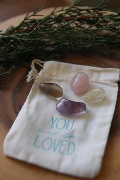 A little bag of gemstones to support your way in the world as a healer, heart worker, and vessel of love. (Just one left!)