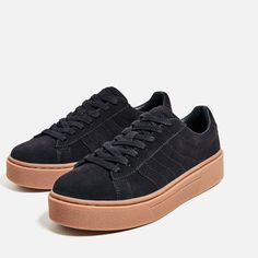 Image 6 of LEATHER SNEAKERS WITH CHUNKY SOLE from Zara
