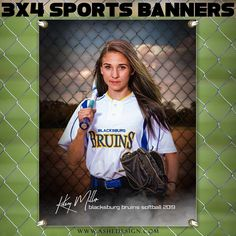 Amped Sports Banner - Fenced In Softball Senior Softball, Softball Senior Pictures, Senior Guys, Senior Photos, Girls Softball, Senior Year, Senior Portraits, Sport Photography, Photoshop Photography