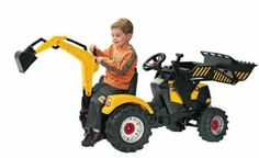 Ride on pedal tractor loader and back digger 3-7 years: Amazon.co.uk: Toys & Games