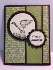 Wilderness Awaits Masculine rubber stamping Birthday Card