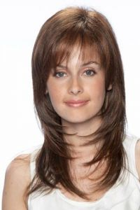 Sophiscated Layers Silky Top Quality Lace Front Human Hair Wig
