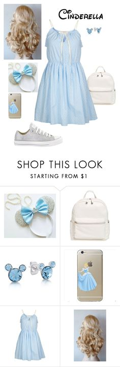 """""""Cinderella Park Ready"""" by briony-jae ❤ liked on Polyvore featuring Converse, BP., Disney and REDSOUL"""