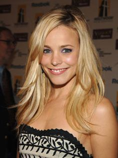 long layers. blonde. rachel mcadams