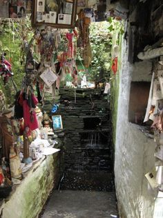 pilgrims head to St Gobnait's well, where they may leave a votive offering on the tree over the well (most commonly in the form of a ribbon) like these gifts left at St. Brigid's well.