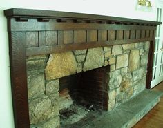 arts & crafts fireplace - LOVE THIS effect - classic, enduring.