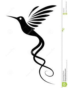 Tatouage De Colibri Images libres de droits - Image: 30522619