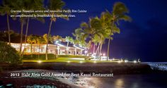 The Beach House Restaurant - Poipu, Kauai, Hawaii - Call 808-742-1412 for reservations.