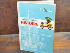 French Language Book Vintage History Book by LittleRiverVintage