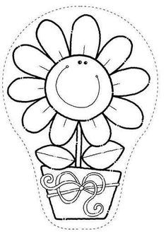 Crafts,Actvities and Worksheets for Preschool,Toddler and Kindergarten.Free printables and activity pages for free.Lots of worksheets and coloring pages. Flower Coloring Pages, Colouring Pages, Coloring Books, Cutting Activities, Preschool Activities, Colorful Drawings, Colorful Pictures, Daycare Crafts, Felt Patterns