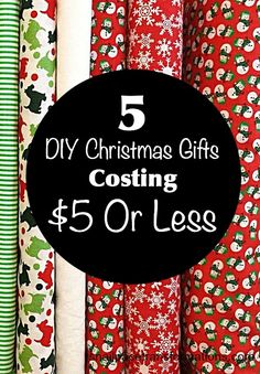 5 homemade Christmas gift ideas that cost less than $5 to make.