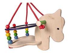 """Da bekommt der Begriff """"Schaukelpferd"""" eine ganz neue Bedeutung. Wooden Toys, Triangle, Baby, Kids, Horse, Gaming, Child, Rocking Horse Toy, Sandbox"""
