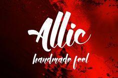 Allic Typeface by Jiw on @creativemarket