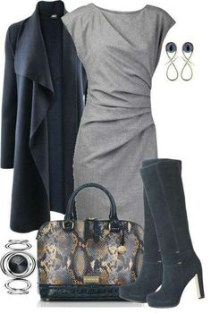 Have the dress & jacket love the boots! – 80 Elegant Work Outfit Ideas in 2017 Have the dress & jacket love the boots! – 80 Elegant Work Outfit Ideas in 2017 Fashion Moda, Work Fashion, Womens Fashion, Ladies Fashion, Petite Fashion, Cheap Fashion, Fashion 2018, Affordable Fashion, Curvy Fashion