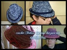 ▶ crochet Fedora my way part two - YouTube