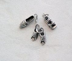 Charms, Fashion: Casual Flats Sterling Silver Charms (3) #Traditional
