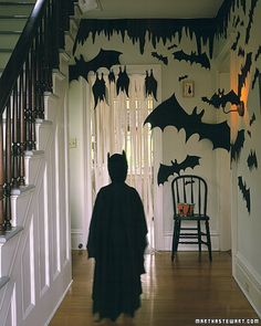 Martha Stewart Halloween Decorations- I love the drippiness at the top of the walls, gotta do that