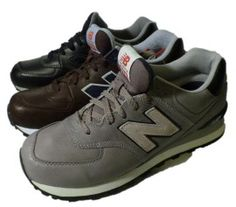 Leather sneaker for men by New Balance, line 574