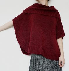 poncho din mohair