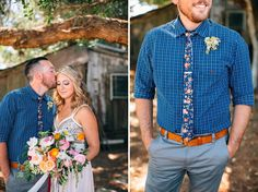 floral tie groom and mixing patterns