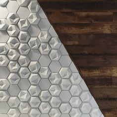 Edgy Concrete Tiles from the Kaza Collection by Walker Zanger. Embossed tiles to add amazing texture to a feature wall. Available at World Mosaic Tile in Vancouver.