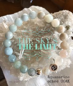Are you looking for a super soft energy in your life? This Ombré Aquamarine OOAK may be just what the Dr. ordered! A beautiful blend of blues and whites, allow Aquamarine to fill you with peace, tranquility and serenity. Once you feel a sense of peace within, the sky's the limit. Ombré jewelry | ombré | aquamarine bracelet | aquamarine healing | Healing gemstones | handcrafted jewelry | luxury jewelry | luxe stones | zen jewelz | ZenJen | NJ artisans