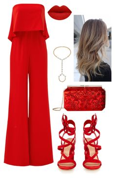 """SLEEVELESS JUMPSUITS : 9 : SHOWSTOPPER"" by megan-adam ❤ liked on Polyvore featuring Jay Godfrey, Gianvito Rossi, Eklexic, Oscar de la Renta and sleevelessjumpsuits"