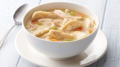 Looking for a hearty dinner using Progresso® broth and Pillsbury® Grands!® biscuits? Then try this easy chicken and dumpling dish - a wonderful meal.