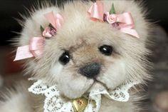 OOAK SABLE MINK FUR TEDDY BEAR ARTIST ORIGINAL KIMBEARLY'S #AllOccasion