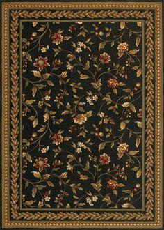 couristan royal luxury winslow ebony area rug - Couristan Rugs