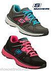 Skechers SK11694 Womens Black/ Grey Lace Up Flex Sole Mesh Upper Running Trainer