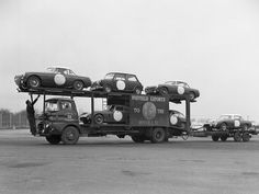 BMC race car transporter from their Abingdon location.