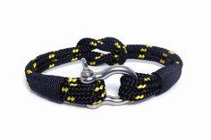 Nautical bracelet/Sailor Bracelet/Mens bracelet/knot bracelet/ Rope bracelet/paracord bracelet/Shackle Bracelet/Bracialle