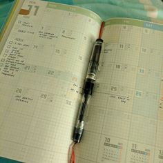 My monthly spread in the Jibun Techo