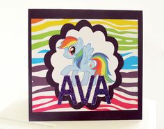 Rainbow Dash My Little Pony Card by ChicNSwills on Etsy, $5.00