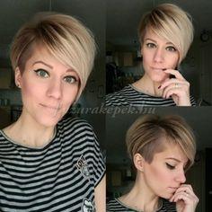 – Ladies Fri … - Best New Hair Styles Undercut Hairstyles, Pixie Hairstyles, Pretty Hairstyles, Cut My Hair, New Hair, Medium Hair Styles, Short Hair Styles, Great Hair, Hair Today