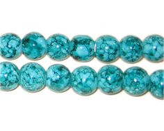 20 Glass Beads Emerald Green Tie Dye 10mm by OverstockBeadSupply, $1.75