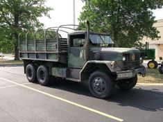 1977 AM General deuce and a half Military truck Us Military, Us Army, Military Vehicles, Military History, Big Trucks, Pickup Trucks, 6x6 Truck, Mean Green, Uk Time